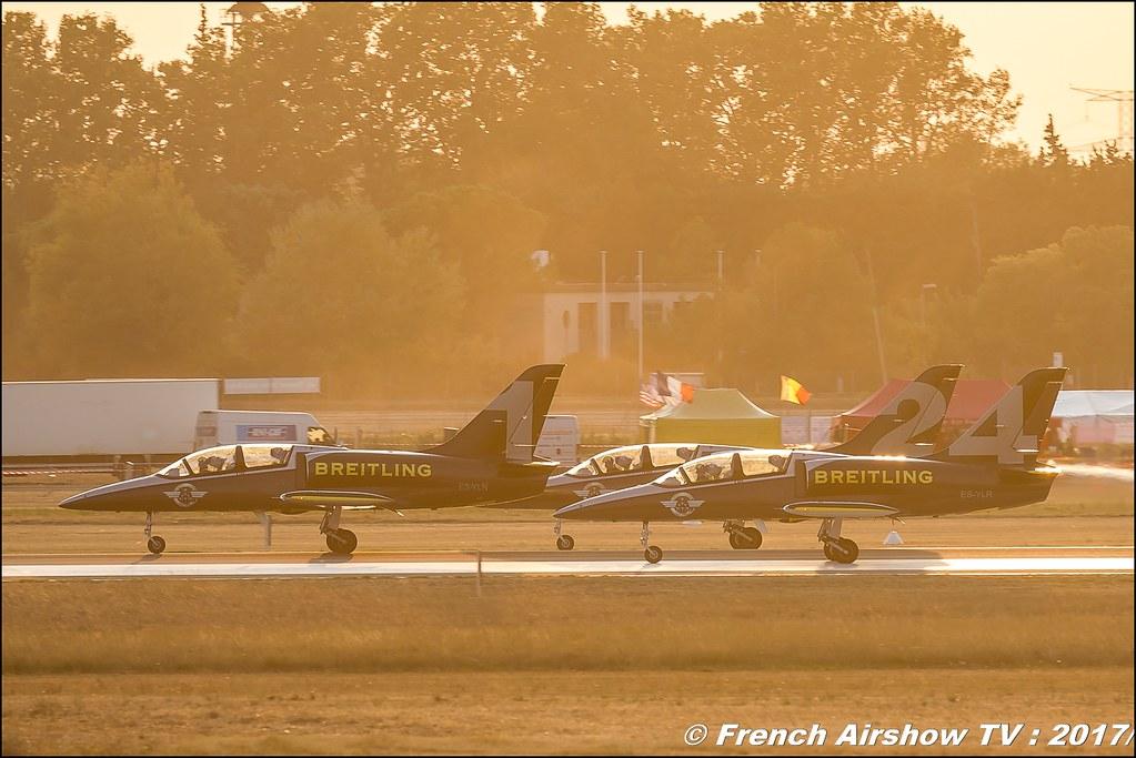 Patrouille Breitling , Breitling Jet Team , sunset , Avignon Air Show 2017 , Aéroclub Vauclusien , avignonairshow2017 , Meeting Aerien 2017