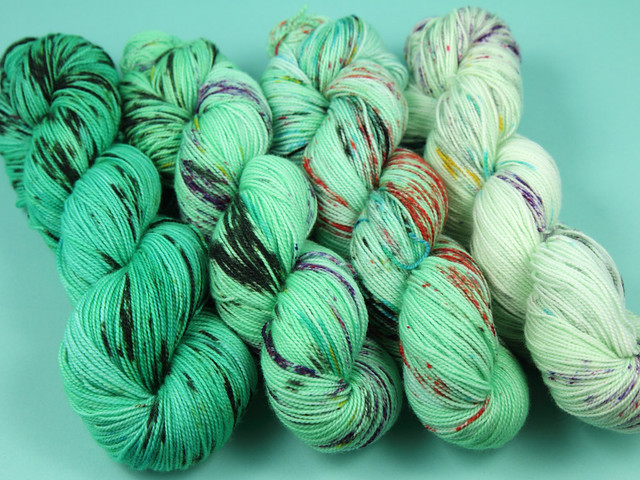 Favourite Sock – hand-dyed superwash merino 4 ply yarn 4 x 100g fade kit 'Arsenic'