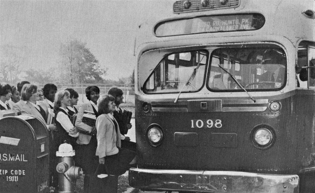 st basil academy students boarding their gm city bus home flickr rh flickr com mountain home city bus city bus converted to home