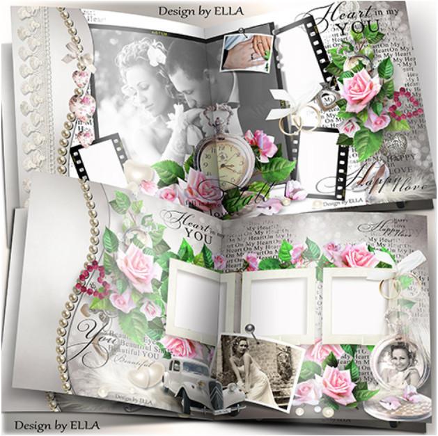 Свадебная фотокнига в Фотошоп