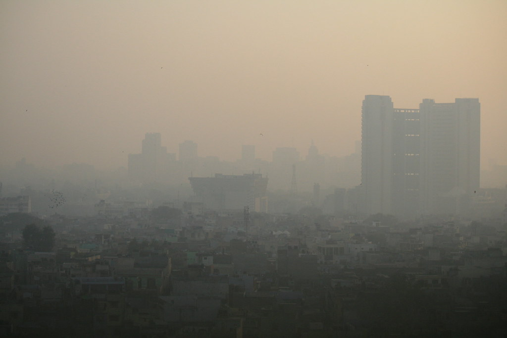 印度德里的空氣污染。作者:Jama Masjit;圖片來源:Jean-Etienne Minh-Duy Poirrier