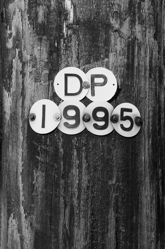 numbers on telegraph pole