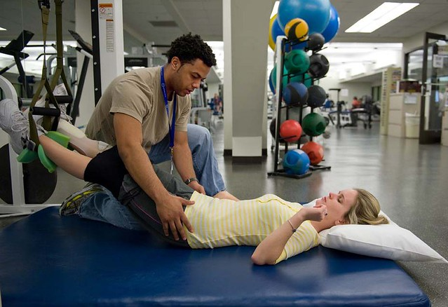 Molly Welch receiving physical therapy at the Shepherd Center