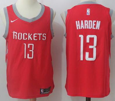 sports shoes 1f3fa 0e725 NBA Nike Houston Rockets #13 James Harden Red Stitched Jer ...