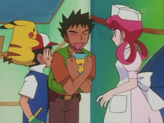 brock claims the johto guide book