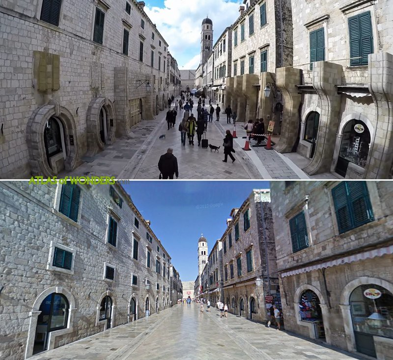 Filming in the white streets of Dubrovnik