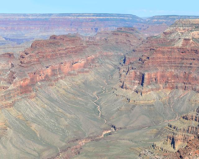 Uno de los muchos valles que atraviesa el Gran Cañón