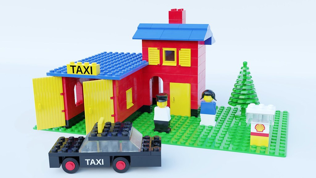 368 Taxi Garage Vintage Legoland Set From 1976 Swapped Ou Flickr