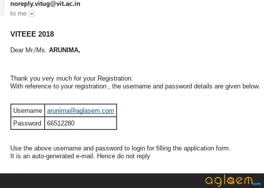 VITEEE Application Form 2018