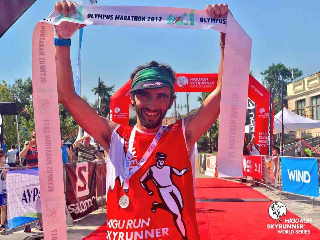 O Aritz Egea στον φετινό Olympus Marathon