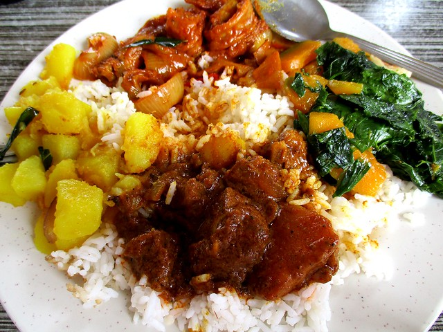 Curry House nasi campur, my picks 1