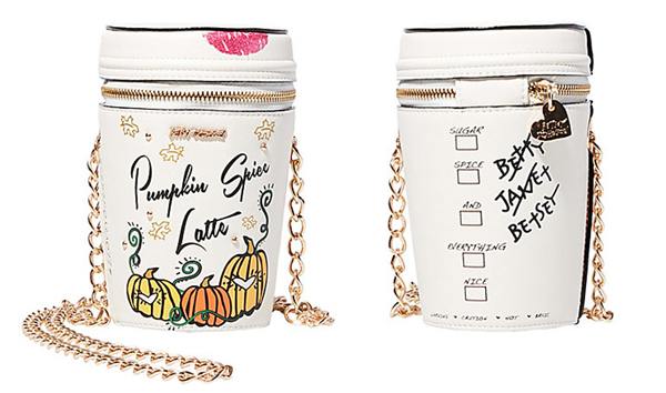 betsey johnson pumpkin spice latte purse