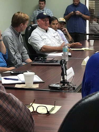 Secretary Perdue speaking with Florida producers