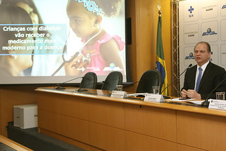 11-10-2017 - Coletiva de imprensa Ministério da Saúde anuncia oferta de novo tratamento para crianças com diabetes. Brasília, 11/10/2017.