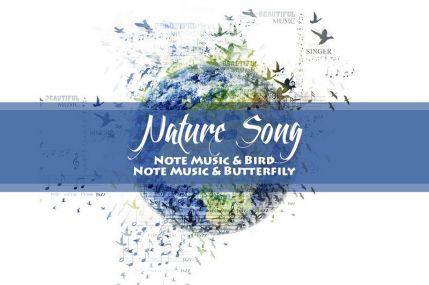 Nature Song Фотошоп экшен V01 - музыка природы на фотографии