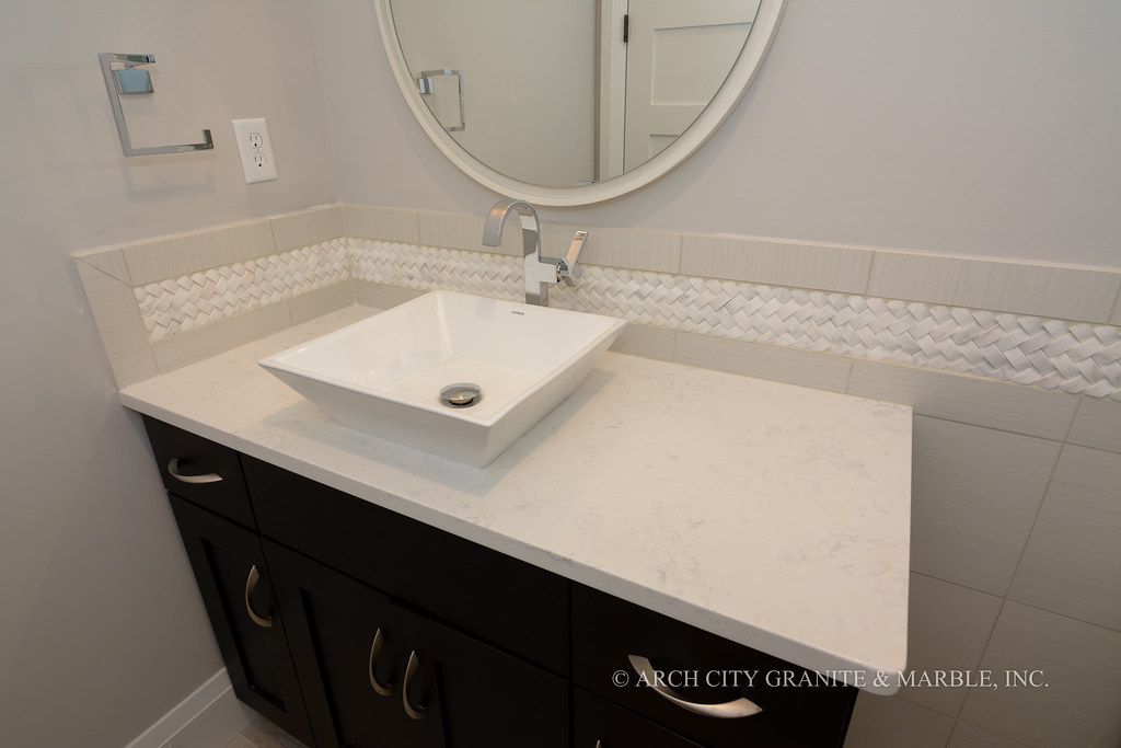 Quartz Bathroom Vanity | By ArchCityGranite Quartz Bathroom Vanity | By  ArchCityGranite