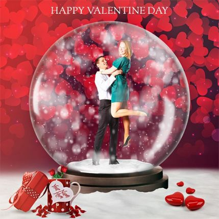 Gif Valentine Animated Snow Globe Action