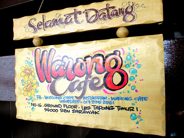 Warong Cafe, plaque