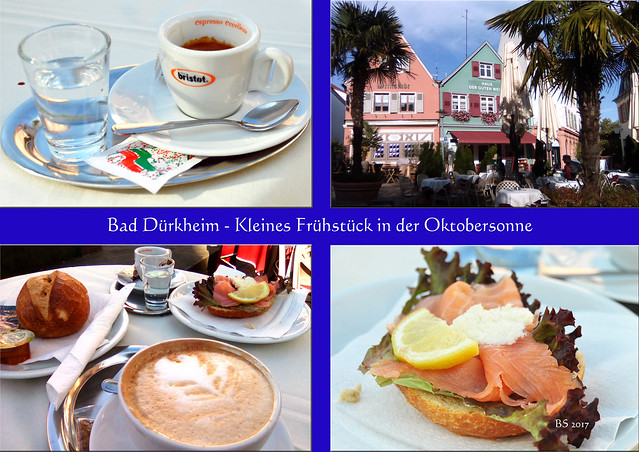 Bad Dürkheim - Kleines Frühstück in der Oktobersonne ... Fotos: Brigitte Stolle 2017
