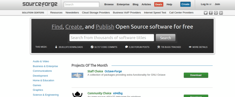 sourceforge-website
