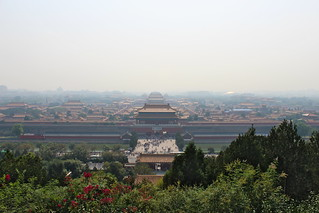 View of the Forbidden City from Jingshan Park | by Timon91