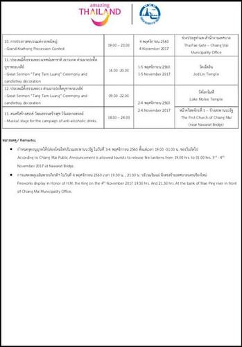 2017 Loy Krathong and Yee Peng Schedule Pg 2