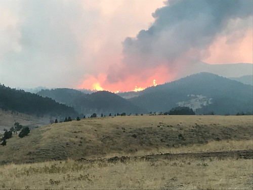 Fires blazing from the Blacktail Fire