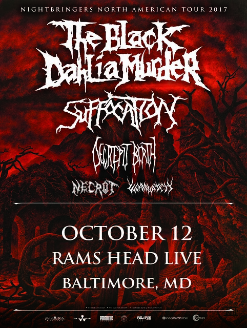 The Black Dahlia Murder at Rams Head Live