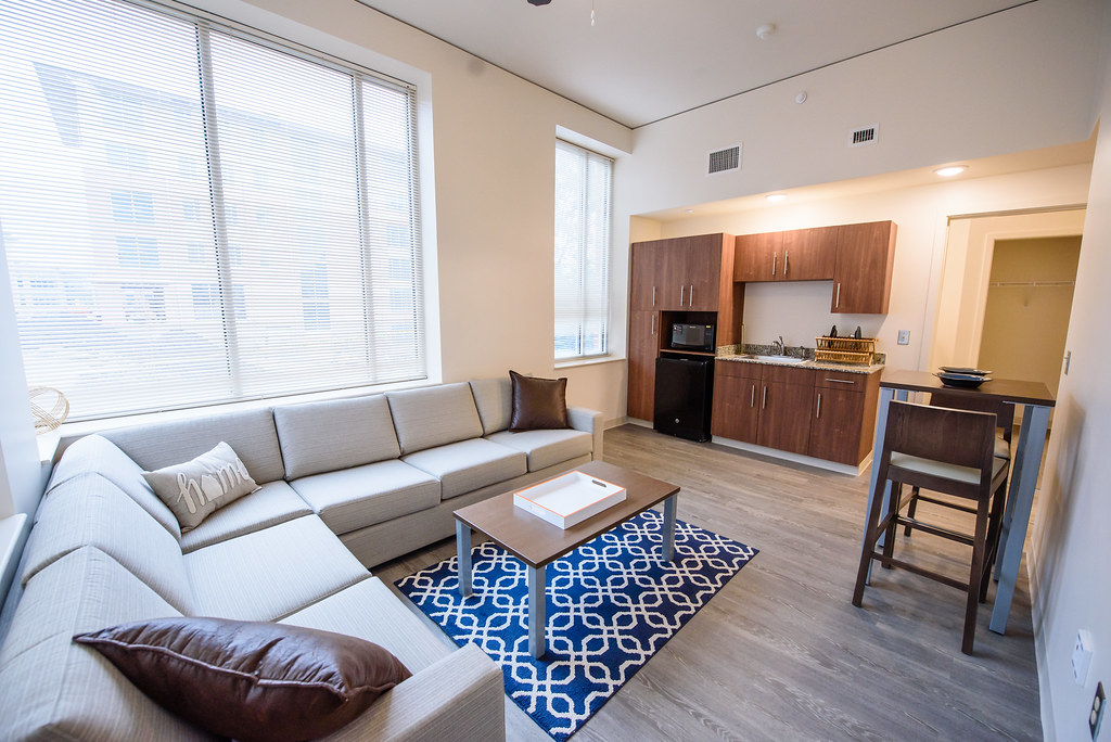 ... Four Person Apartment With Efficiency Kitchen | By Clemson Home