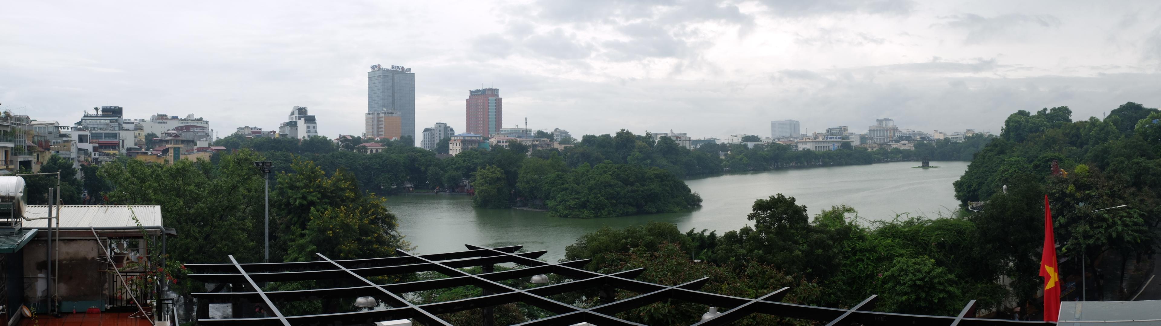 Vistas del lago desde la terraza