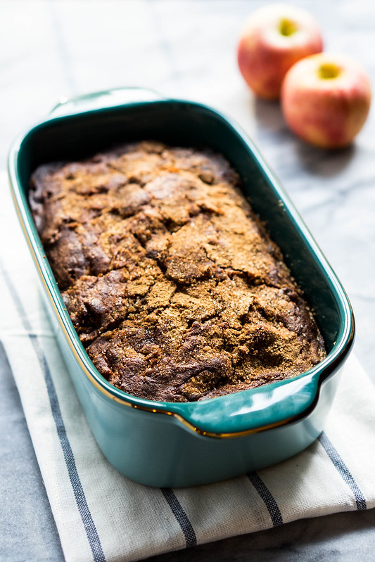 Snickerdoodle Apple Bread with Gluten Free option | cookingalamel.com