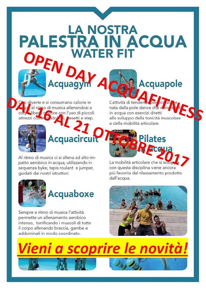 San Rufo: dal 16 al 21 ottobre prove gratuite di Acquafitness al Centro Sportivo Meridionale