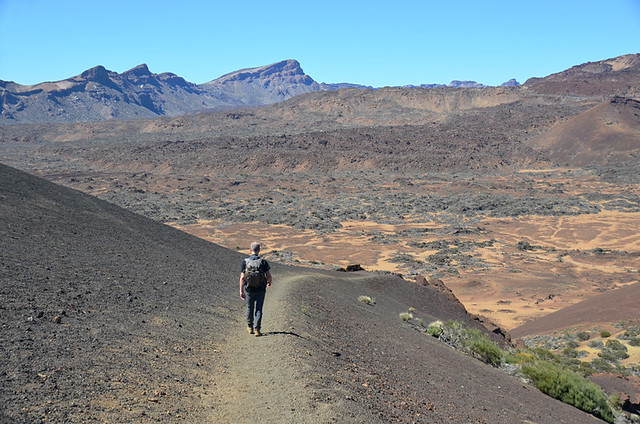 Walking in the north side of Teide National Park, Tenerife