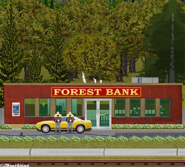 Outside the Forest City Bank ©JBoardman
