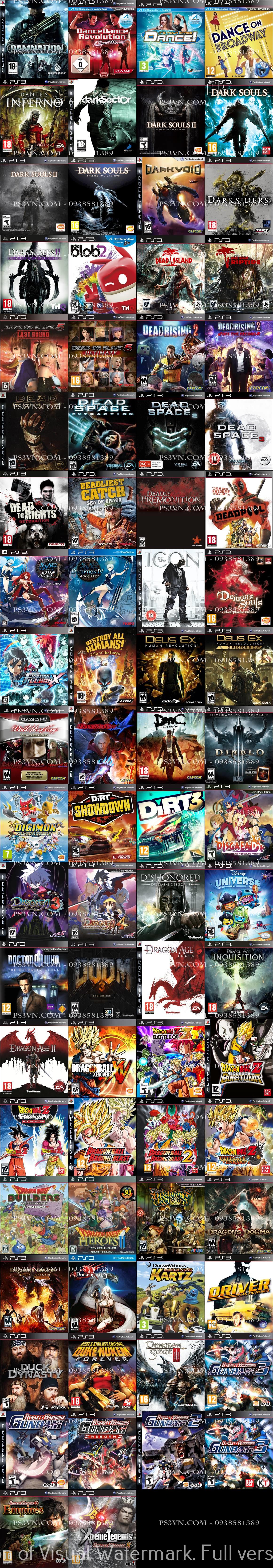 Chép Game PS3 tại nhà giá rẻ nhất TPHCM - PS3VN.COM - 9