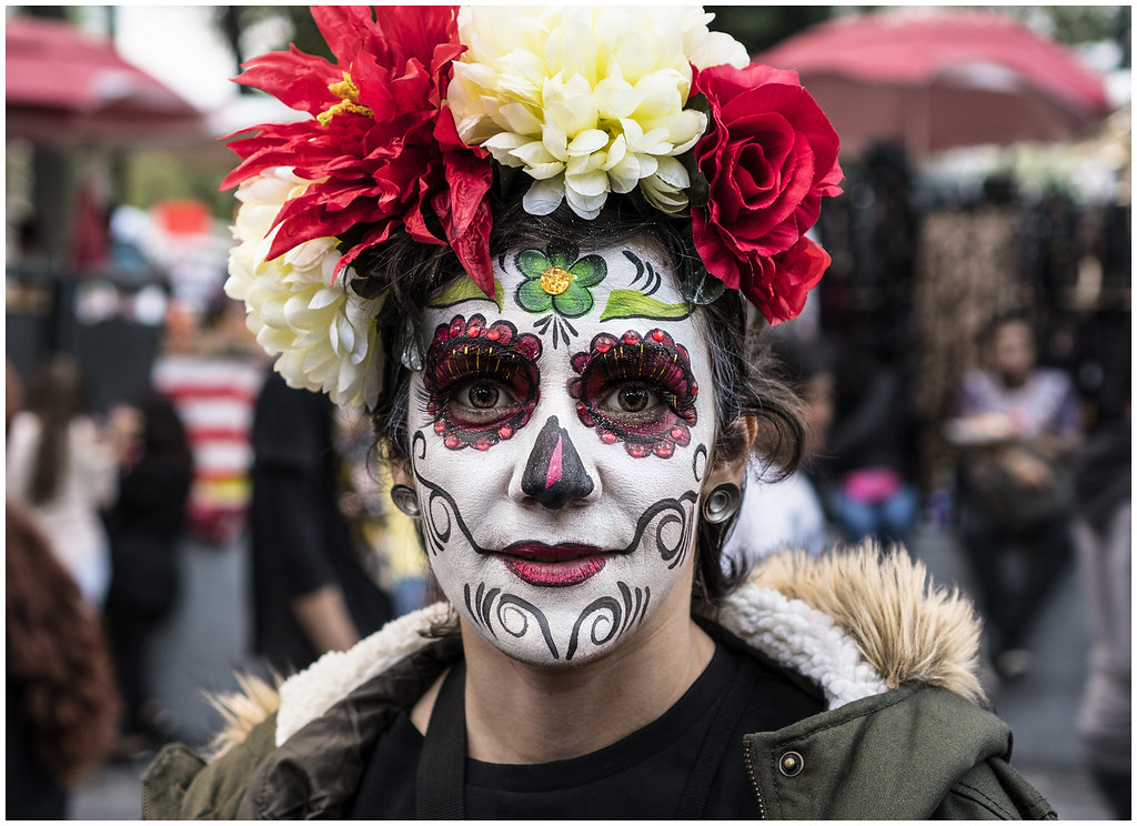 Faces In The Crowd Day Of The Dead Parade Mexico City 201 Flickr