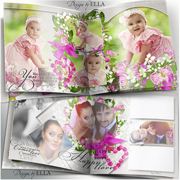 Universal photobook for Photoshop – happy together