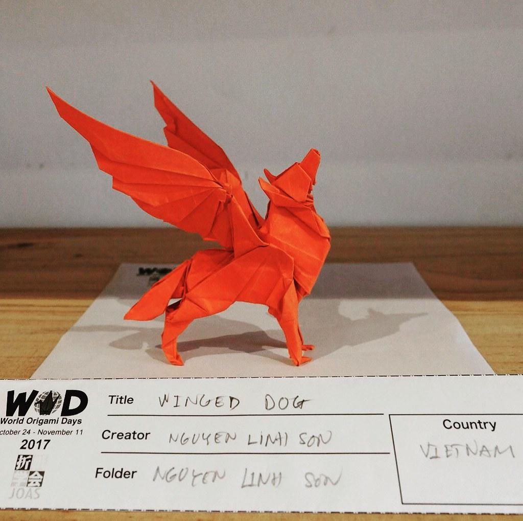 Wod2017 Origami Dog Triangleorigami Nguyenlinhson Flickr