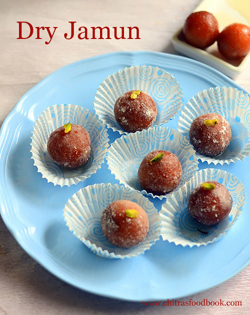 Dry gulab jamun using ready mix