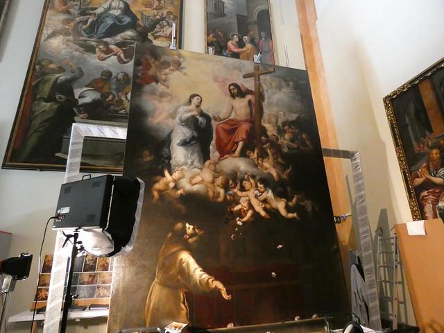 Jubileo de la Porcíuncula de Murillo en el Museo de Bellas Artes de Sevilla
