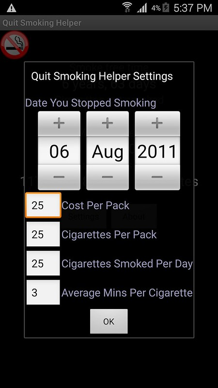 Quit Smoking Helper Screenshot