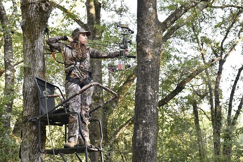Full draw in a treestand (bowhunting) | by MyFWCmedia