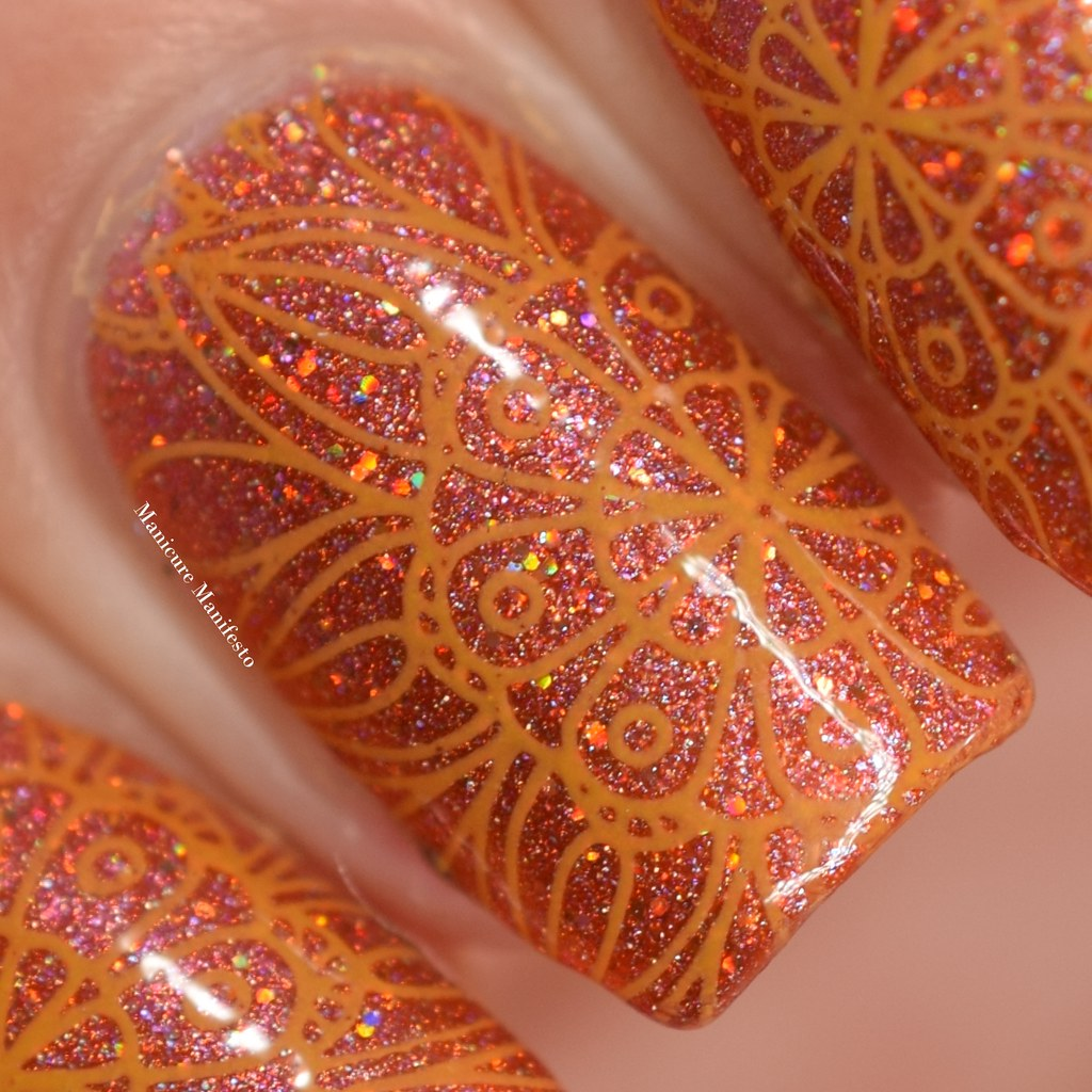 Girly Bits Butternut Leave Me stamping polish