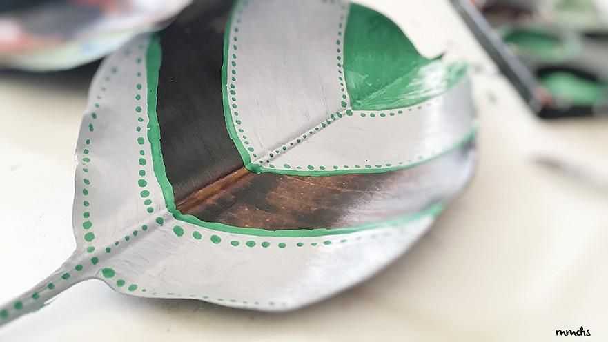 manualidades con hojas secas del Otoño