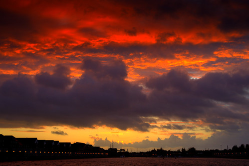 Fire in the sky over Preston Docks | by Tony Worrall