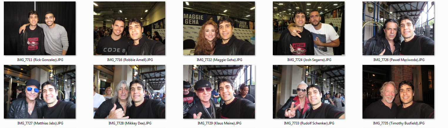 Celebrity meet and greets heroes and villians the scorpions and full list of njnyc photo ops part 1 m4hsunfo