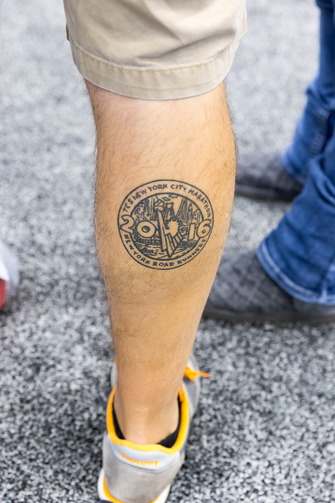 Tcs new york city marathon 2016 tattoo stock photos for Free tattoos nyc 2017