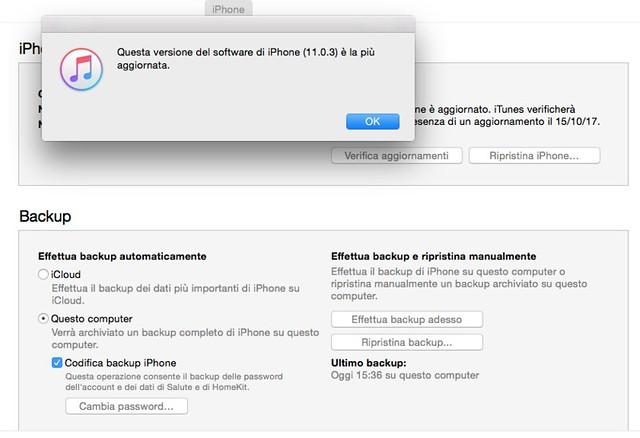 Controllo della versione iOS installato