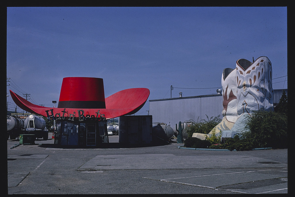 Hat n' Boots gas station, overall view, Route 99, Seattle, Washington. (LOC) | by The Library of Congress