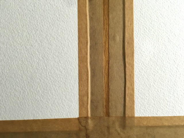 Close up of my paper stretching